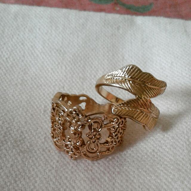 F21 Gold Rings