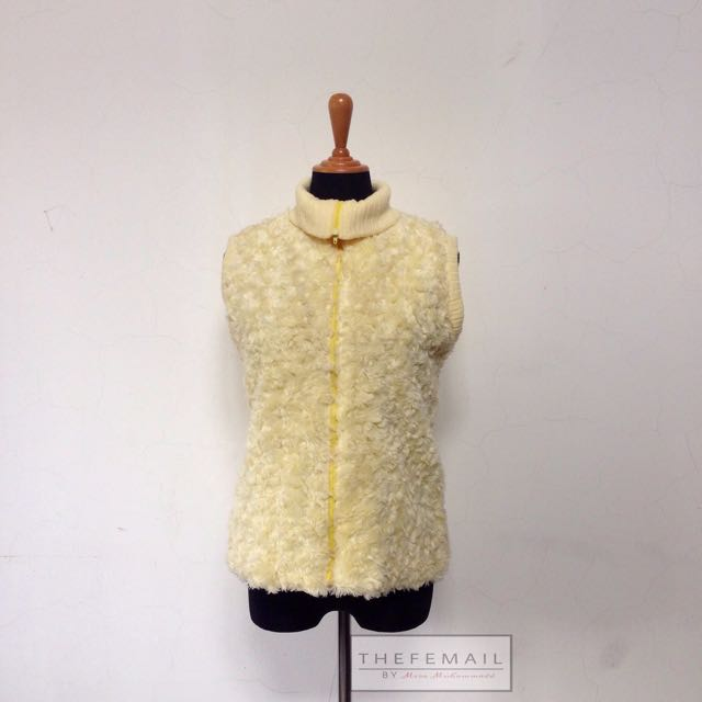 Fluffy Sleeveless Jacket