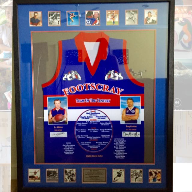 Footscray Team Of The Century Signed Guernsey