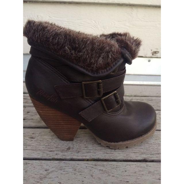 Furry Boot Heels
