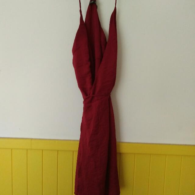 Gorgeous Red Wrap Around Dress