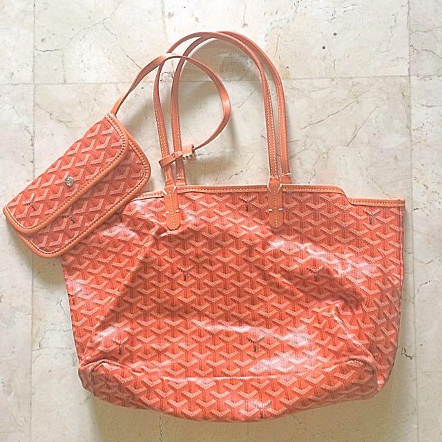 Goyard Orange Shopping Bag