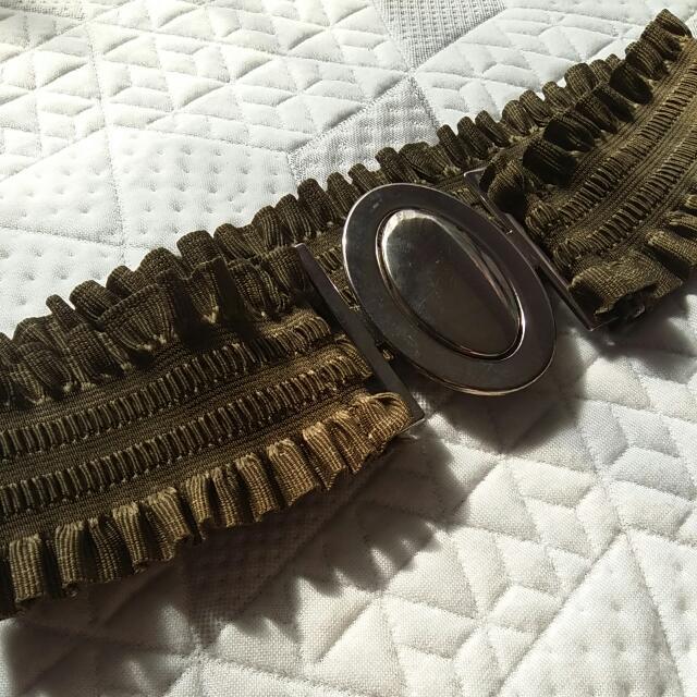 Stretchy Green Waist Belt