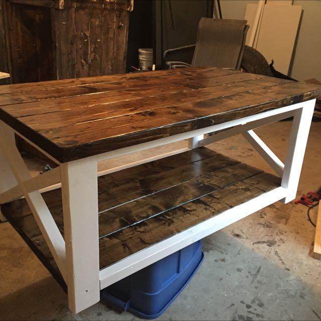 Hand Crafted Dark Walnut Coffee Table