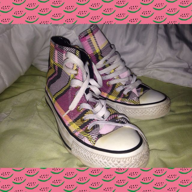 High Top Plaid Converse