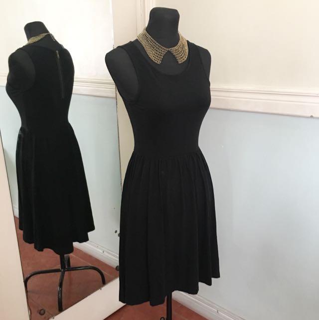 H&M Semi HI-low Black Dress