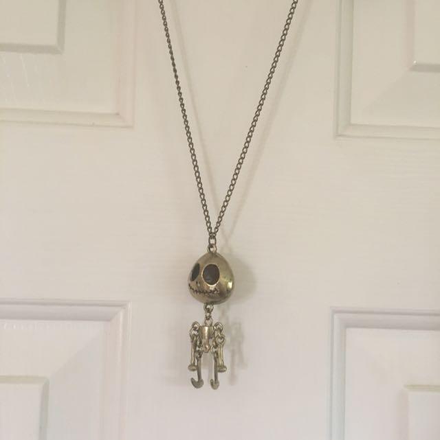 Jack Skellington Gold Necklace