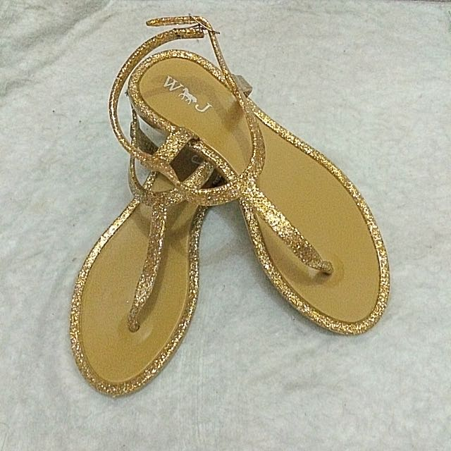 Jelly Sandals (gold) For Women
