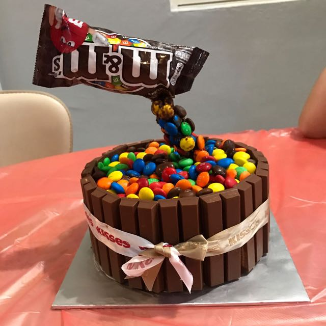 Superb Kitkat Mm Birthday Cake Food Drinks Baked Goods On Carousell Funny Birthday Cards Online Hendilapandamsfinfo