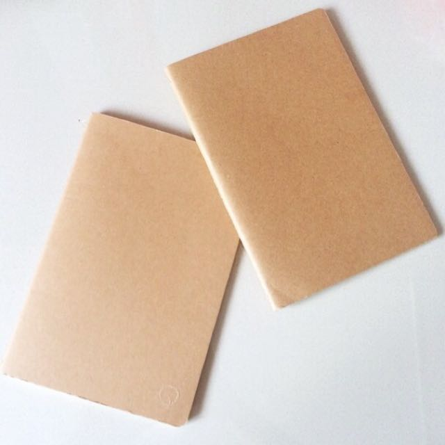 Kraft Cover Blank Notebook