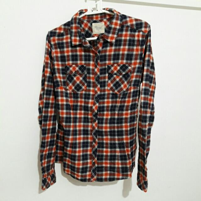 Lativ 經典條紋襯衫×2-橘黑&藍灰