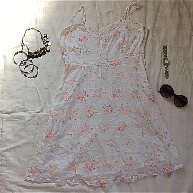 Levi's White Cotton Dress