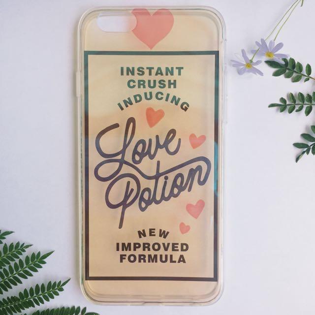 Love Portion Transparent Hologram iPhone Case