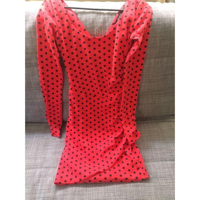 Minnie Mouse Red Polka Dot Dress