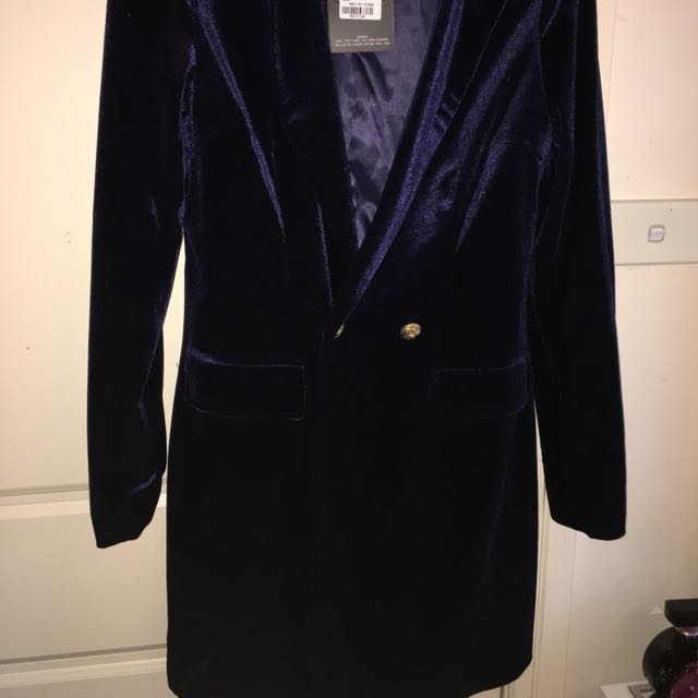 Missguided Velvet Blazer Dress