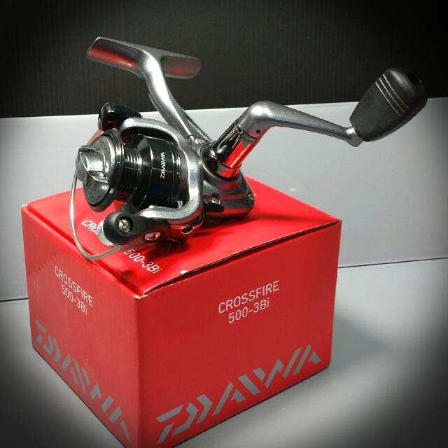 ce5867466b0 Daiwa Spinning Fishing Reel Crossfire 500-3Bi (AD), Sports, Sports & Games  Equipment on Carousell