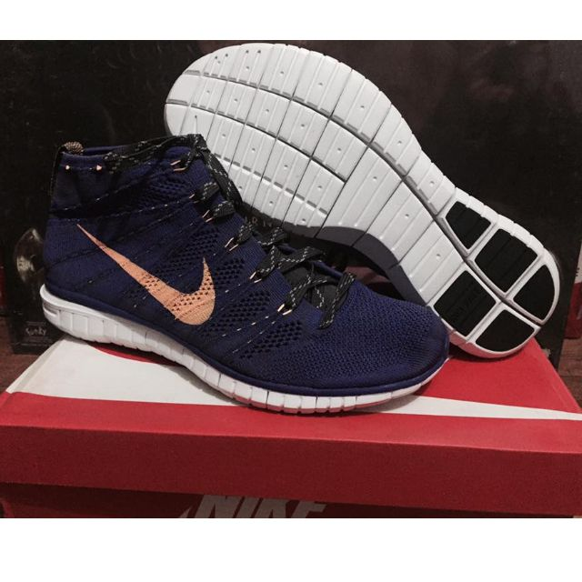 release info on lowest discount recognized brands NIKE AIR FREE FLYKNIT CHUKKA LAKERS GRAPE BLACK MANGO SZ 10 ...