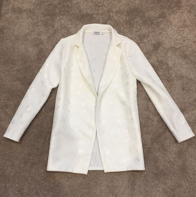 NWT White Lace Blazer Jacket