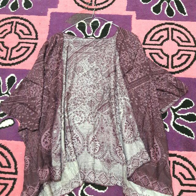 Outer Batik Warna Ungu