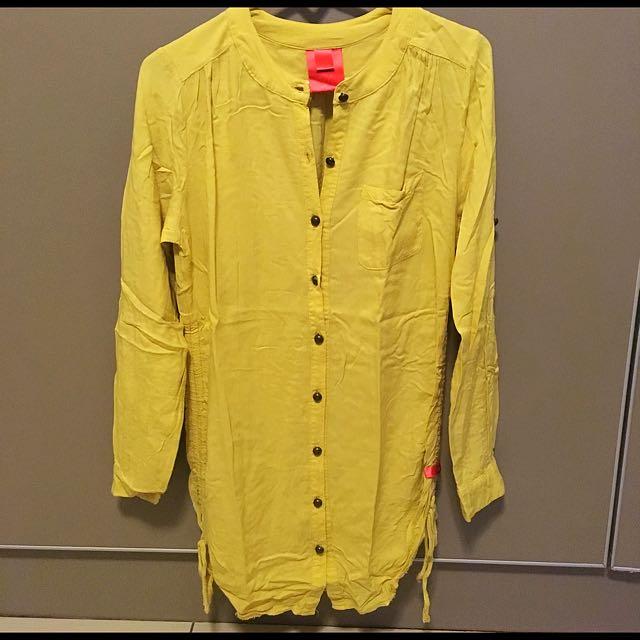 Pale yellow long-sleeved blouse [Bayo]