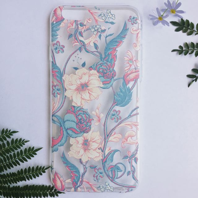 Peony Floral Blossom Transparent iPhone Case
