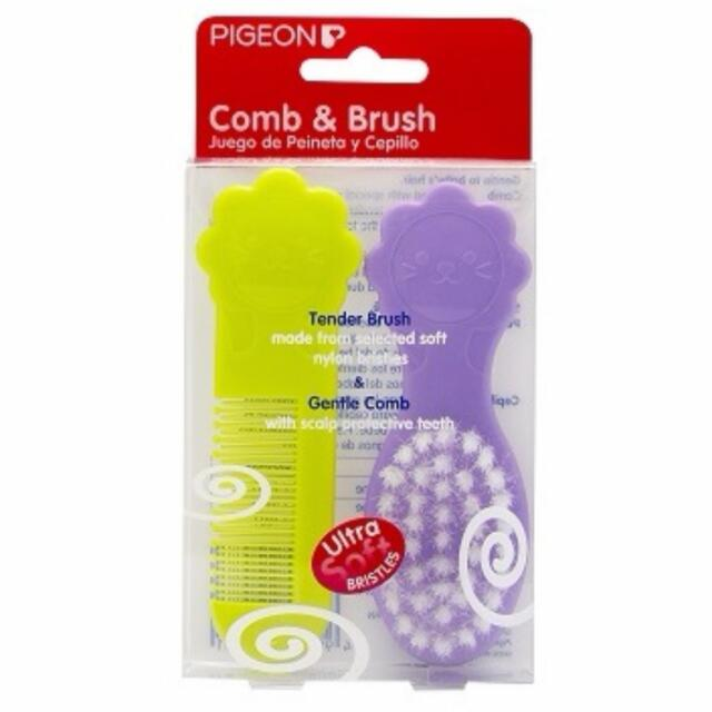PIGEON Baby Comb And Brush Set