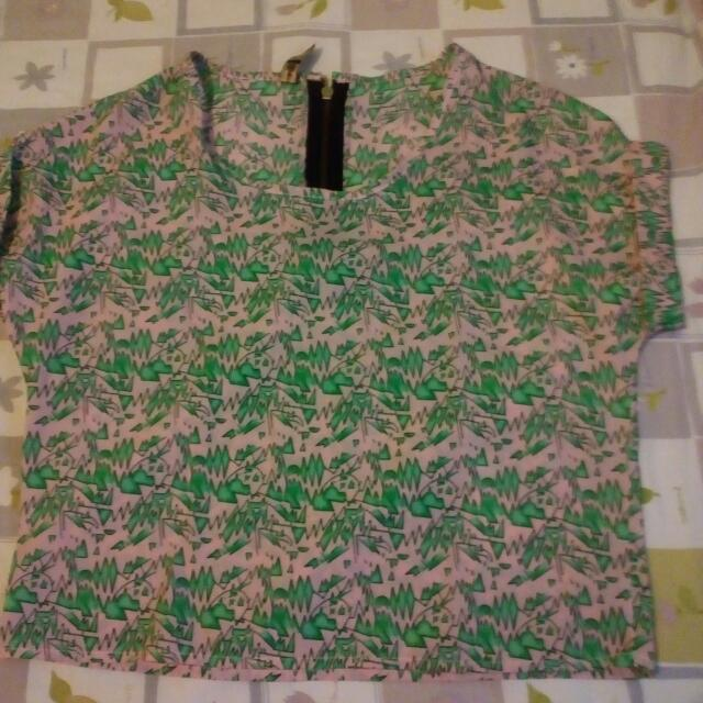 Pink And Green crop top