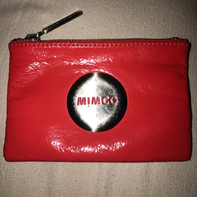 RED MIMCO POUCH - Small