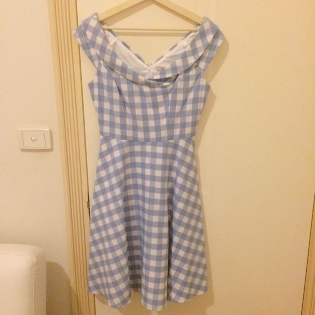 Review Gingham Check Dress