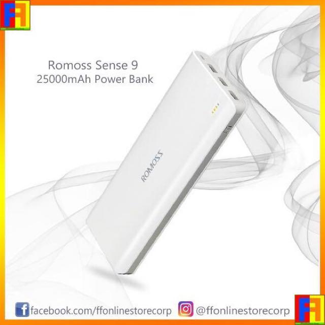 ROMOSS Sense 9 (25000mAh) Power Bank