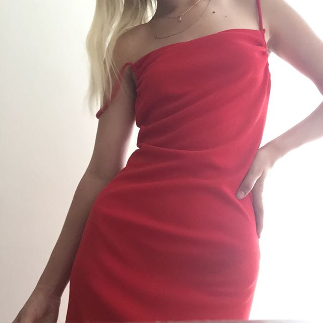 SEXY VINTAGE RED DRESS SIZE SMALL