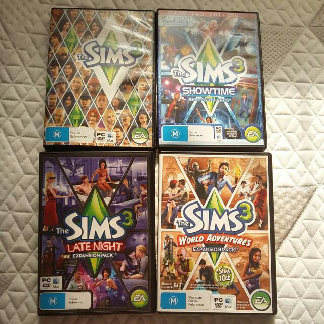 Sims 3 And Expansion Packs PC GAMES