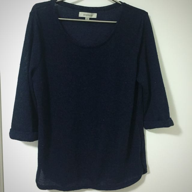 Size 14 Navy Blue Shirt