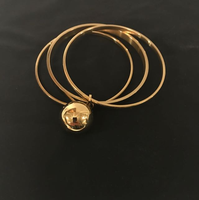 Stainless Steel Gold plated Bangle