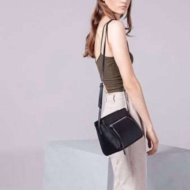 Stradivarius Micro Satchel Bag Black