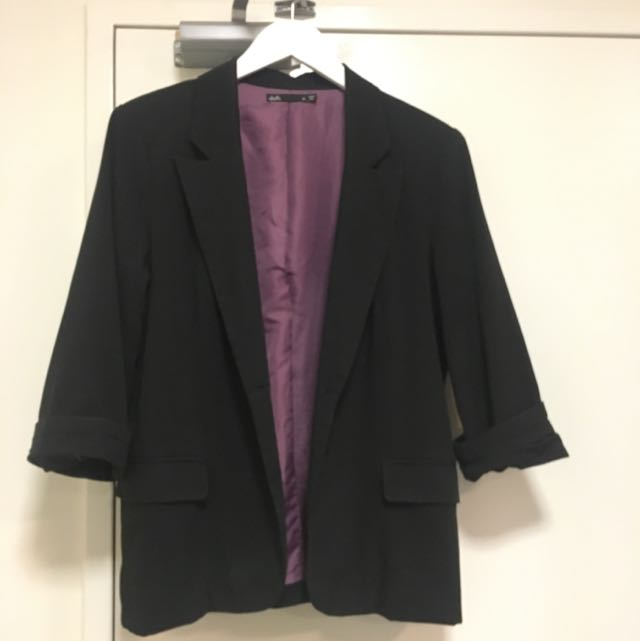 Size 14 Dotti Black Blazer Work Corporate Jacket
