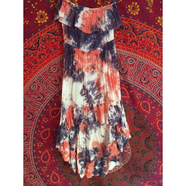 Tie-dye Strapless Dress