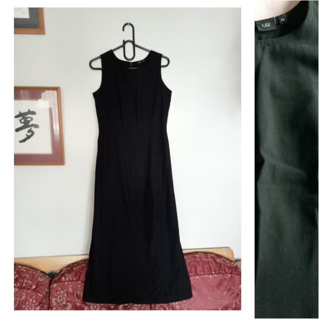 U2 Long Black Dress
