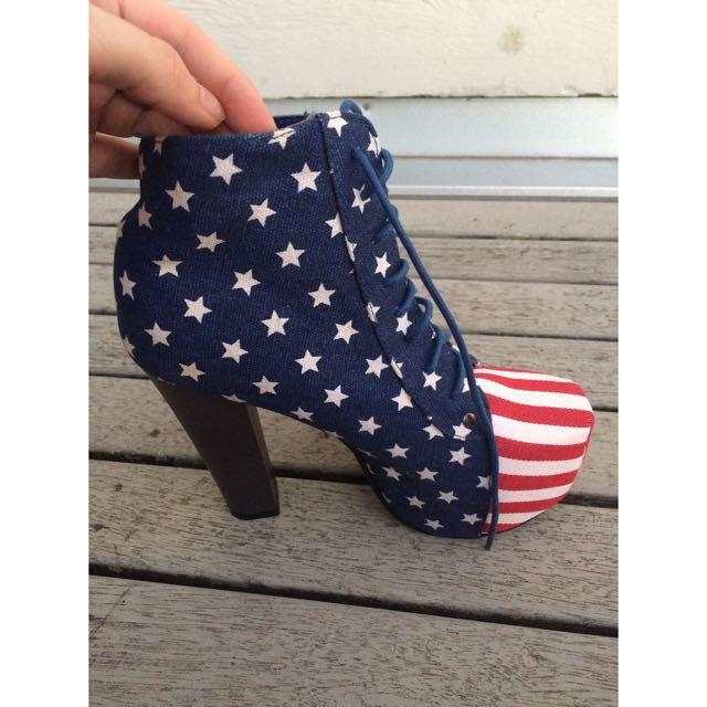 USA Flag Heels