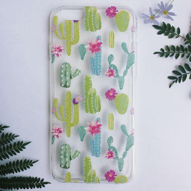 Watercolour Pastel Cactus Garden iPhone Case