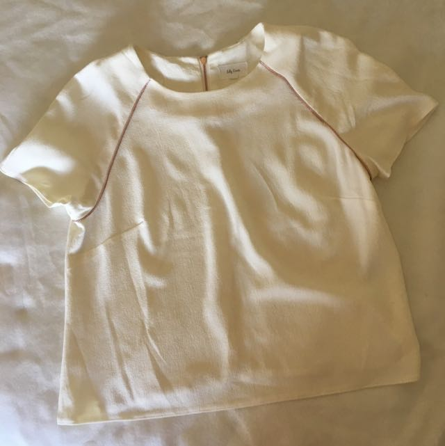 White Top With Rose Gold Zips