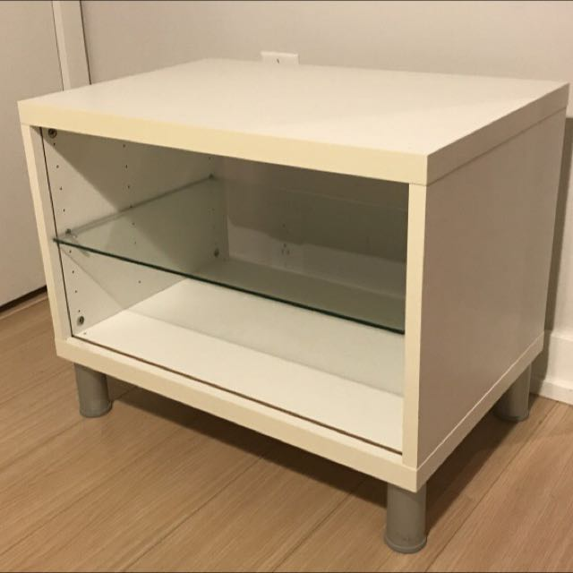 White TV Table With Shelves