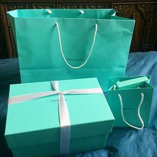 Tiffany And Co. Real Leather Card Holder And Makeup Bag.
