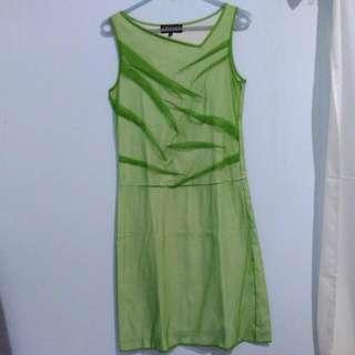 Green Net Mini Dress
