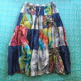Patchwork Long Skirt