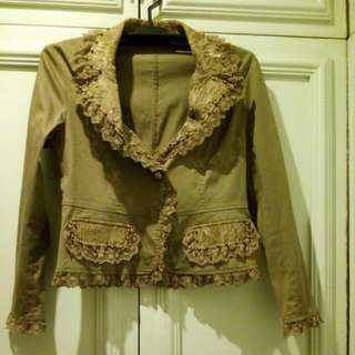 Mocha Jacket with Lace