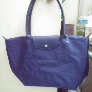 Longchamp Le Pliage Large Neo Blue Nylon Tote Bag
