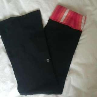 Lululemon Reversible Groove Yoga Pant Size 4