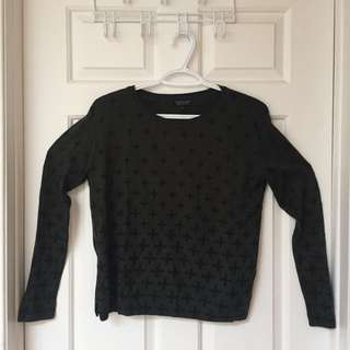 Topshop Gradient Cross Sweater