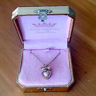 Juicy Couture Heart & Bow Necklace